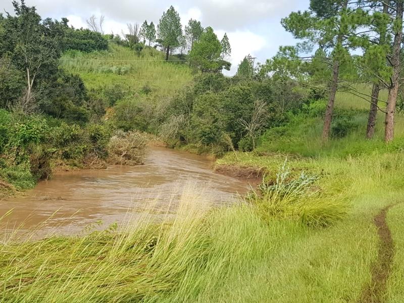 River in full flood